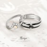 Сказки серии Тайя S925 Серебрянных кольца Красочной Пара Кольцо Опал Дизайн для женщин девушек ювелирных изделий