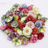 120pcs 5.5cm colorato peonia falso fiore testa decorazione di nozze mini fiore seta artificiale fai da te ghirlanda di fiori di carta kraft XD22488