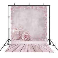 flower wooden board photography backdrops wooden floor backd...