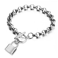 hm- 2 Stainless Steel Chain PadLock Pendant Key Charms OT Buc...