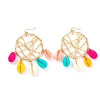 Sea Shell Ohrringe für Frauen Mädchen handgemachte Stroh Drop Boho Kronleuchter Anweisung baumeln Ohrringe