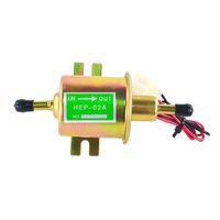 12V 8mm 자동차 연료 펌프 Hep-02A 전기 가솔린 펌프 저압 볼트 고정 와이어 디젤 세트 금속 FP009 자동차 부품