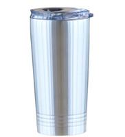 Caneca de viagem Tumbler aço inoxidável 16 oz com padrão espiral isolados a vácuo de café cerveja copo com tampa em estoque A10 transporte livre