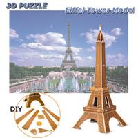 Eiffelturm 3D Puzzles DIY World Attractions Handgemachte Montage Gebäude Modell Spielzeug Geschenke für Kinder Erwachsene Home Office Dekoration
