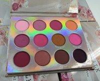 Горячий макияж современная палитра теней для век 12 цветов ограниченная палитра теней для век с кистью розовая палитра теней для век DHL доставка+подарок