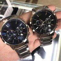 Hot Selling Ar Watch Factory New AR2434 AR2448 AR2454 AR2453 AR2458 Chronograph Classico Mens Zegarek ze stali nierdzewnej z pudełkiem