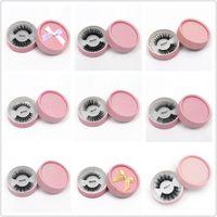 3D Faux Mink Eyelashes False Mink Eyelashes 3D Silk Protein Lashes 100% Handmade Natural Fake Eye Lashes With Gift Box 24 style