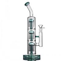 Recycler DAB Буровые установки Табачные Трубы Толстые Стекло Водяные Бонги Курение Воск Водопроводные Трубы Кальяны Аксессуары с 14 мм Чаша 12,9 дюйма