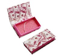 Dollar Lash-Geld Leerer Magnetic Lashes Fall 3D Mink Wimpern Boxen falsche Wimpern Verpackung Kästen ohne Lashes GGA3219