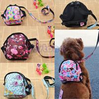 Pet Dog Bag рюкзак открытый туристический перевозчик для собачьих щенок кошек с поводным рюкзак дышащие мешки для домашних животных