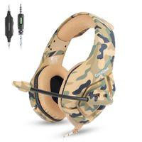 Хорошо ONIKUMA K1 PS4 Gaming Headset casque Проводные ПК Стерео Наушники Наушники с микрофоном для нового Xbox One / Ноутбук планшетный геймер (розничная торговля)