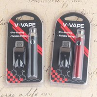 V-VAPE Precalentamiento Vape Pen Blister Kits 650mah Voltaje variable 510 Thread Pen Kits con cargador USB Blister Pack