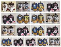 Vintage Buffalo Sabres Jersey 39 Dominik Hasek 7 Rick Martin 11 Gilbert Perreault 9 Derek Roy 16 Pat LaFontaine 26 Thoma Vanek CCM Hokeyi