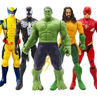 12 '' / 30 cm Marvel Avengers Venom Aquaman Batman Superman Flaş Thanos Hulk Demir Adam Thor Wolverine Action Figure Oyuncak kid Için