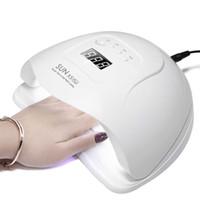LED lampe pour ongles manucure 80W / 150W Lampe UV Nail Sèche-machine pour le séchage UV Gel Nail écran LCD de détection de mouvement polonais avec