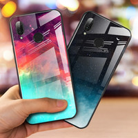 Мода Gradient закаленного стекло телефон чехол для Huawei P30 Pro P20 Mate 20 Pro Honor 8х 9 10 Lite противоударного чехла Обложки