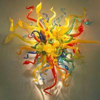 Цветочное освещение ручной работы взорванные настенные светильники европейского стиля индивидуальный муранский стеклянный столовой декор