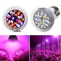 28 W Full Spectrum LED Grow Light E27 lampada da crescita UV IR GU10 E14 Lampadina 28LEDS Lampada vegetale AC85-265V per serra Fiori Fiori