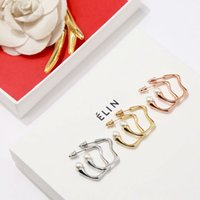 Luxury Earrings C Type Earrings CZ Pairs Brand CE Brand Designer Jewelry Luxury Copper for Women