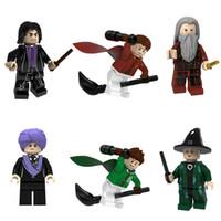 Mais recente 6pcs Harry Potter Dumbledore Quirrell Snape McGonagall Oliver Wood Mini Toy Figura Modelo Building Block tijolo