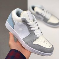 1 Paris Jumpman Chaussures Low Mens Basketball Femmes Light Khaki Noble Rose Designer Chaussures Hommes Athlétisme Chaussures entraîneurs des espadrilles