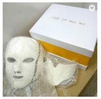 무료 배송 DHL 피부 미백 장치에 대한 미세 전류와 PDT 7 LED 라이트 치료 얼굴 아름다움 기계 LED 얼굴 목 마스크