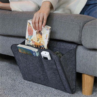 1pc Felt Comodino dell'organizzatore di immagazzinaggio letto Scrivania Bag Sofa TV telecomando Hanging Caddy Couch dell'organizzatore di immagazzinaggio tasche Holder Bed