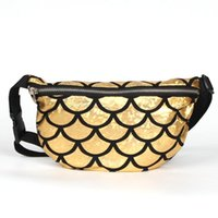 Crossbody Fish Scale Look Waist Bag Multi Use Belt Pouch Was...