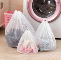 نايلون غسل الغسيل حقيبة قابلة للطي المحمولة غسل الملابس آلة المهنية حقائب حقيبة الغسيل شبكة غسل حقائب الحقيبة سلة LX1571