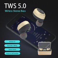 TWS 5. 0 Bluetooth Headphones Wireless Earbuds Stereo Bass Ea...