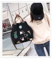 Borse da donna multi zaino studente funzionante con tela Starbucks Cup Designer Handbags di lusso borse