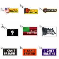 Ben Paslanmaz Çelik Akrilik Anahtar Aksesuarları Parti Favor RR Anahtarlık Siyah Hayatlar Matter Keyrings Yaratıcı Parade Anahtarlıklar Breathe Can not
