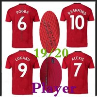 PLAYER VERSION 19 20 Manchester Home red soccer jerseys 2019...