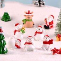 Christmas Snowmankey Buckle Fairy Garden Accessorio Anello Micro scena Guardare la neve Paesaggio Bacino Paesaggio Ornamento Portachiavi Regali 1 3ddp1