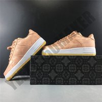 2020 الجلطة المنخفضة 1 وردة قماش حريري ذهبي أحذية تزلج أحذية رجال نساء أزياء مريحة في الهواء الطلق أحذية رياضية رجل CJ5290-600