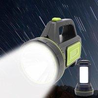 135000LM زينون LED القابلة لإعادة الشحن ضوء العمل المحمولة الشعلة الأضواء اليد مصباح 220V لفي الهواء الطلق