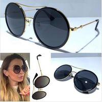 새로운 디자이너는 상자 자외선 차단 여름 빈티지 선글라스를 코팅 여성 여성 태양 안경 여성 디자이너를위한 0061 선글라스 선글라스