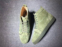 New high version custom CL light green frosted leather shoes...