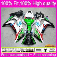 Injektion för Kawasaki ZX 10 R ZX1000 ZX10R 11 12 13 14 15 67HM.0 ZX 10R 1000CC ZX-10R 2011 2012 2013 2014 2015 OEM Fairings Green White Blk