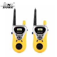 2pcs / lots Bonito Mini walkie talkie 409-410MHZ niños de mano de juguete portátil de dos vías de intercomunicación regalo del niño Radio Profesional interactivo