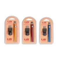 Law Preheat Battery Blister Paquet 350mah avec chargeur USB Kit 350mah Préchauffer stylo Bourgeon Touche tactile Ecigs Ecigs préchauffage de batterie
