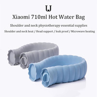 Xiaomiyoupin JJ 710ml U-Shape Hot Water Bag Silicone Bottle Neck Warmer Mão aquecedor com malha tampa 3012488