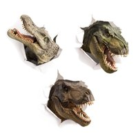 3D Dinosaur Crocodile wall sticker kids room Bathroom cupboa...