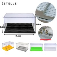 3 Steps Acrylic Dustproof Box case Building Block Collection...