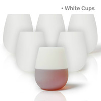 Silikonweingläser Unbreakable Stemless Dishwasher Safety Wine Cups Wasserbecher Travelling Cups