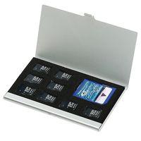 جودة عالية 8 في 1 المحمولة الألومنيوم مايكرو ل TF SD SDHC TF MS بطاقة الذاكرة تخزين حالة حامي حامل بطاقة SIM الملحقات
