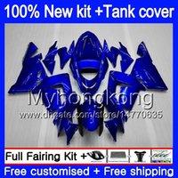 Body + Tank voor Kawasaki ZX1000 CC ZX 10 R ZX-10R 2004 2005 214MY.12 ZX10R 04 05 ZX1000C 1000CC ZX 10R 04 05 ABS Glanzende Blauwe Vallen