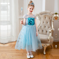 Vendita al dettaglio delle neonate della lampada di Aladdin Jasmine Principessa attrezzature dei bambini Costumi di Natale di Halloween principessa Cosplay Party Dress abbigliamento