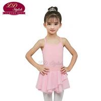 Chicas del ballet rosa vestidos de baile trajes de ballet de los niños Maillots Práctica Ropa de ballet dancewear falda de baile