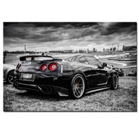 Sports Car Racing Nissan GTR Super Car Poster Wall Art Photos Peinture murale Art pour Salon Home Decor (Frame No)